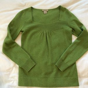Vertical Design 100% Cashmere Green Sweater size s